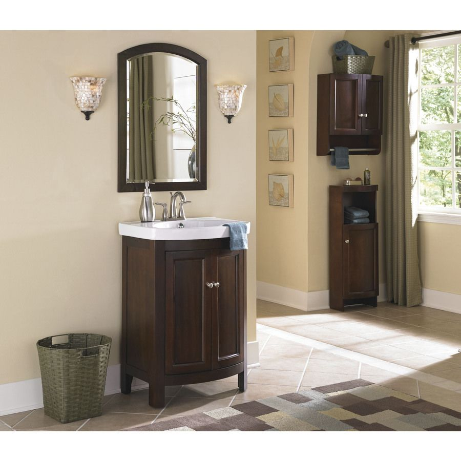 Shop Allen Roth Moravia Sable Integral Single Sink Bathroom