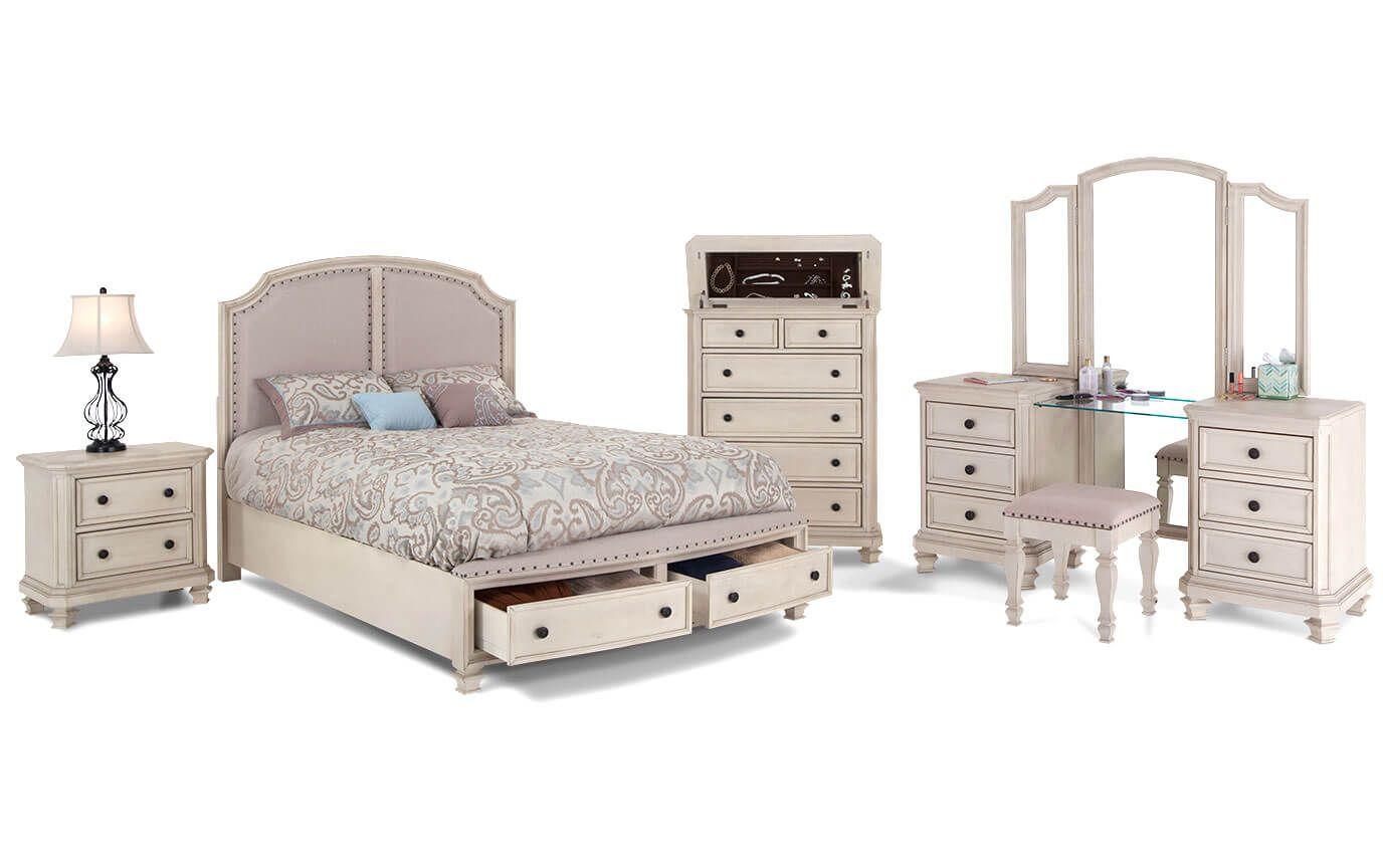 Euro Cottage Bedroom Set Bob S Discount Furniture Cottage