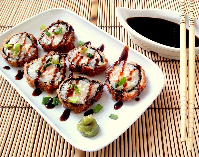 como fazer hot roll sushi empanado