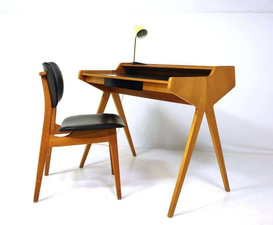Seventeen Clever Secret Compartments Make Mid Century Modern Desk Chair Mid Century Modern Desk Modern Desk Chair