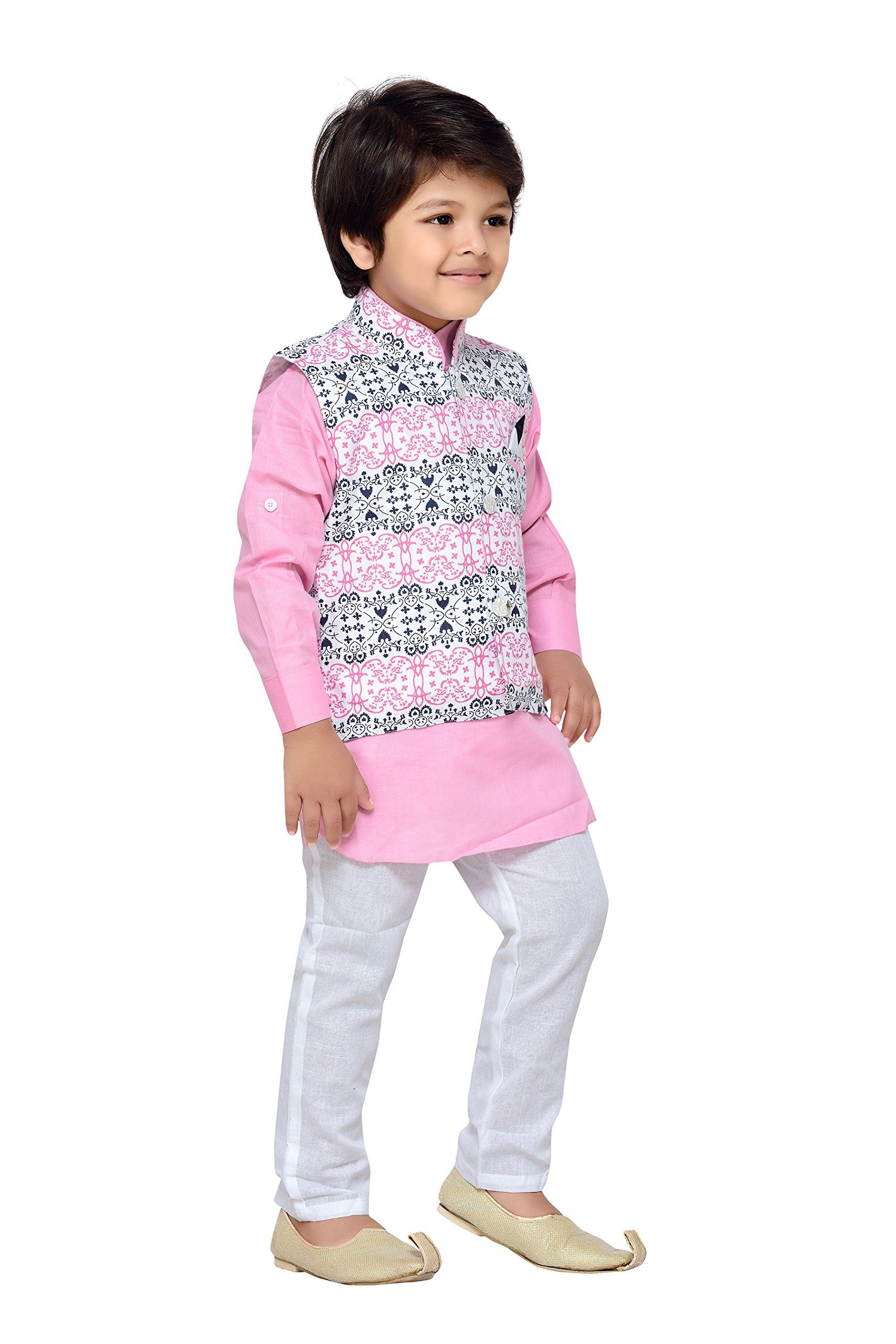 e8f0691566 AJ Dezines Kids Indian Wear Bollywood Style Kurta Pyjama Waistcoat for Baby  Boys 1205PINK1 *** Discover more by checking out the image web link.