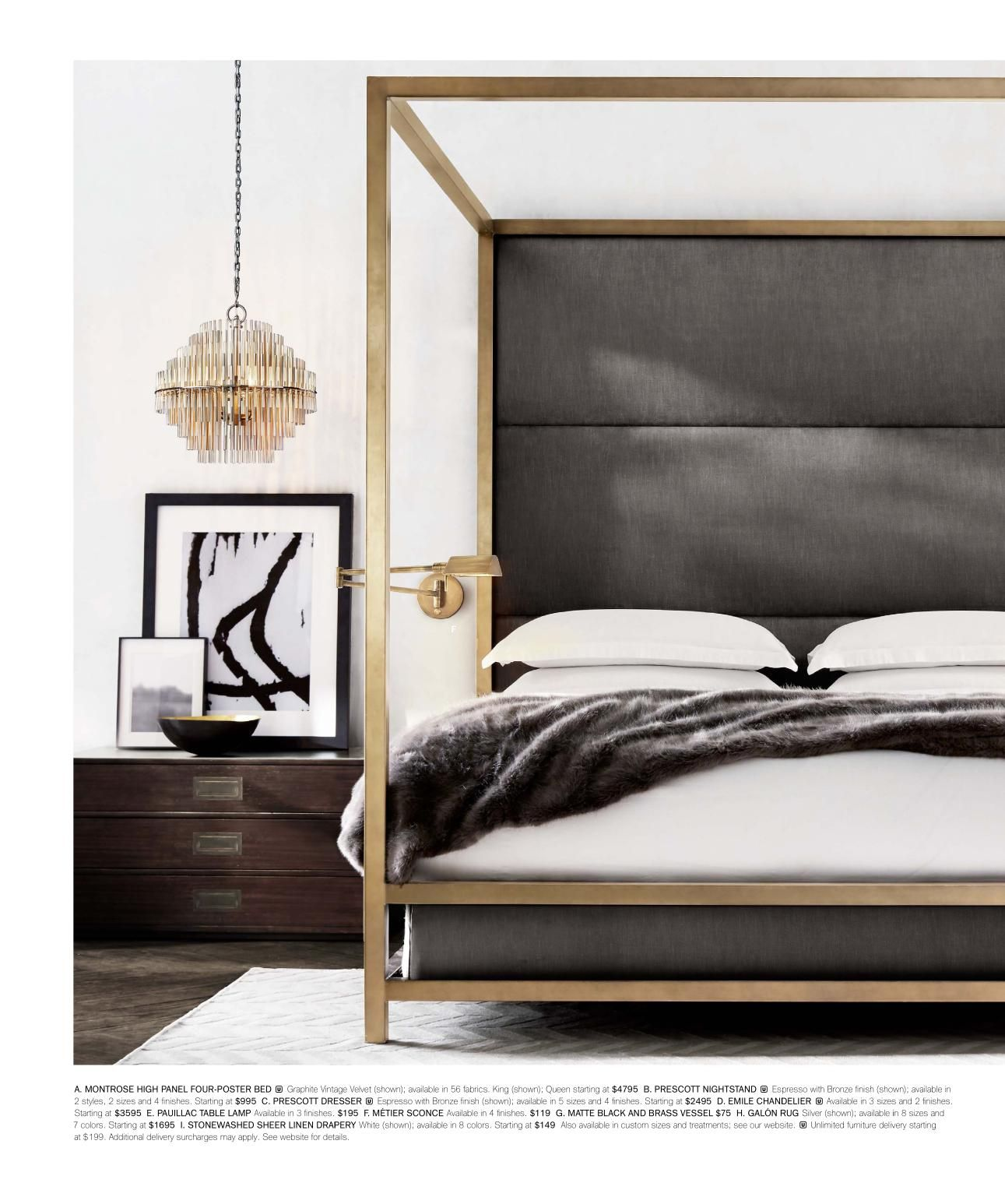 Modern Masculine Bedding Modern Canopy Bed By Restoration Hardware Canopy