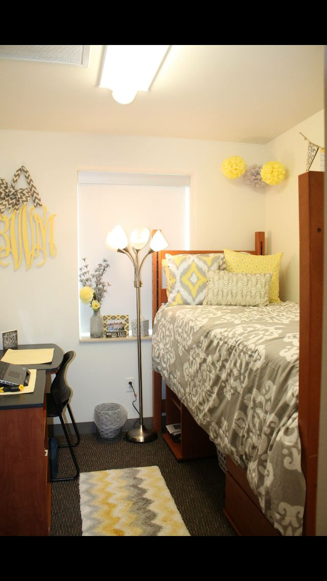 Yellow And Grey Room Designs: My Yellow And Grey Dorm Room