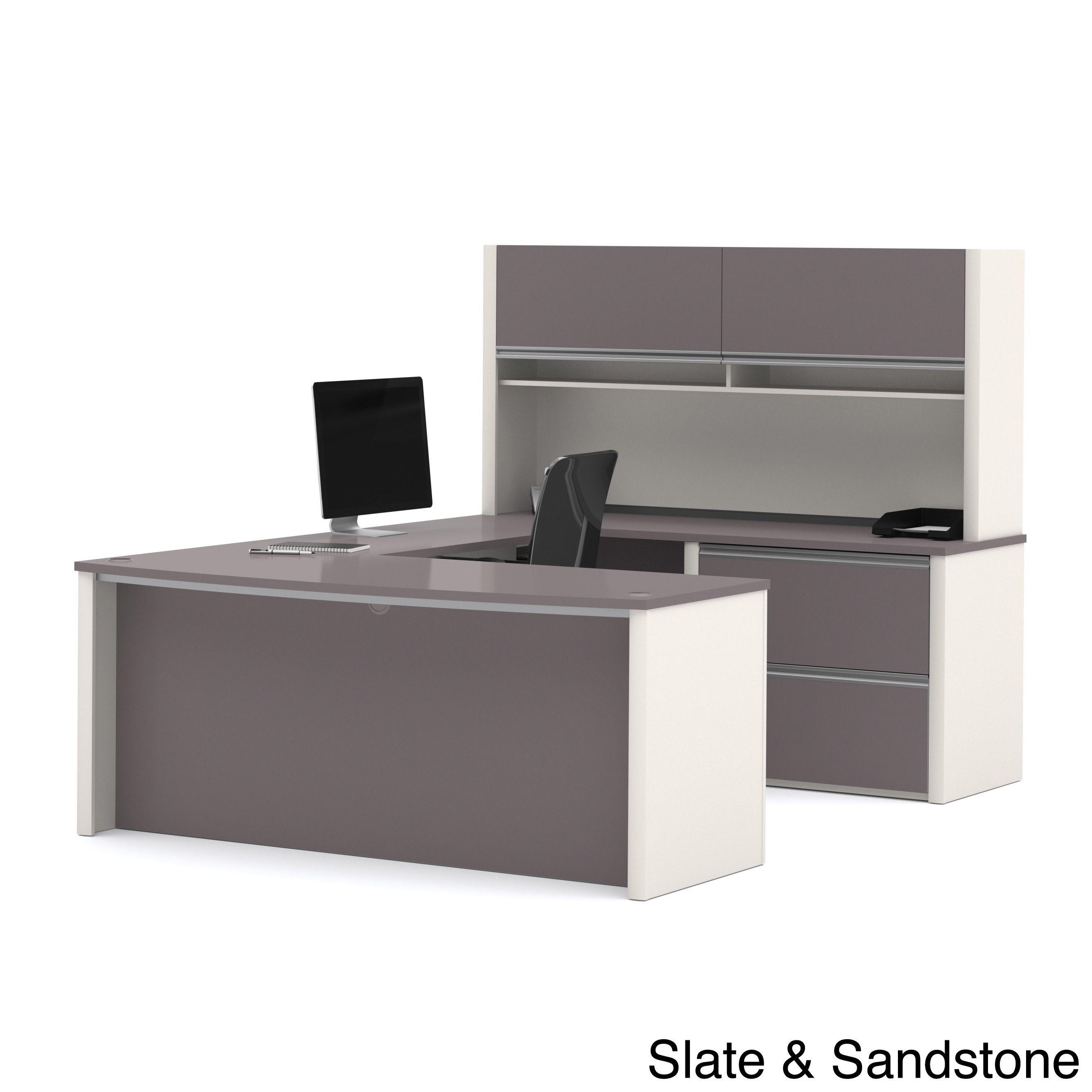 Exceptionnel Bestar Connexion U Shape Desk With Hutch