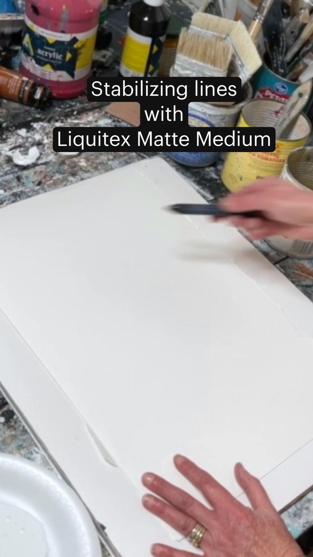 Stabilizing lines with Liquitex Matte Medium   Art Tips