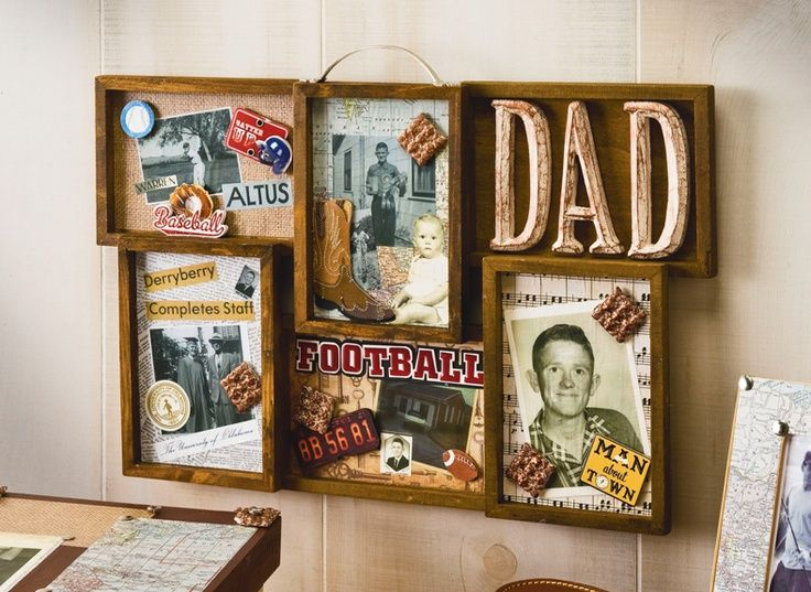 mod podge collage frame for dad using mambo me my big ideas