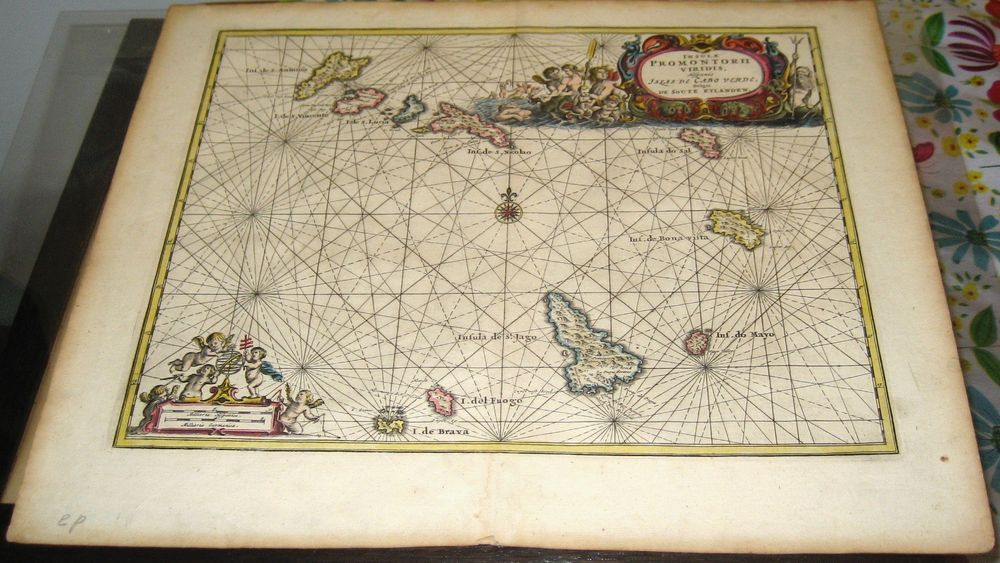 Details About Rare 1668 Map Cape Verde Island By Van Muers Cabo