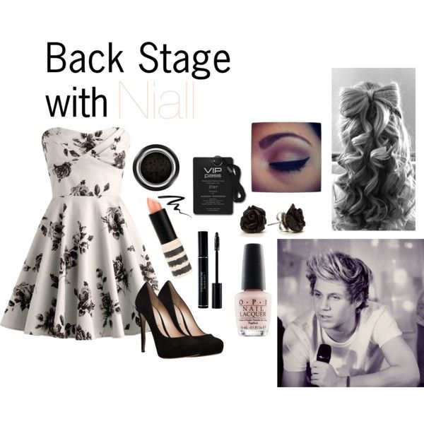 Back Stage with Niall by livi-horan-1d on Polyvore