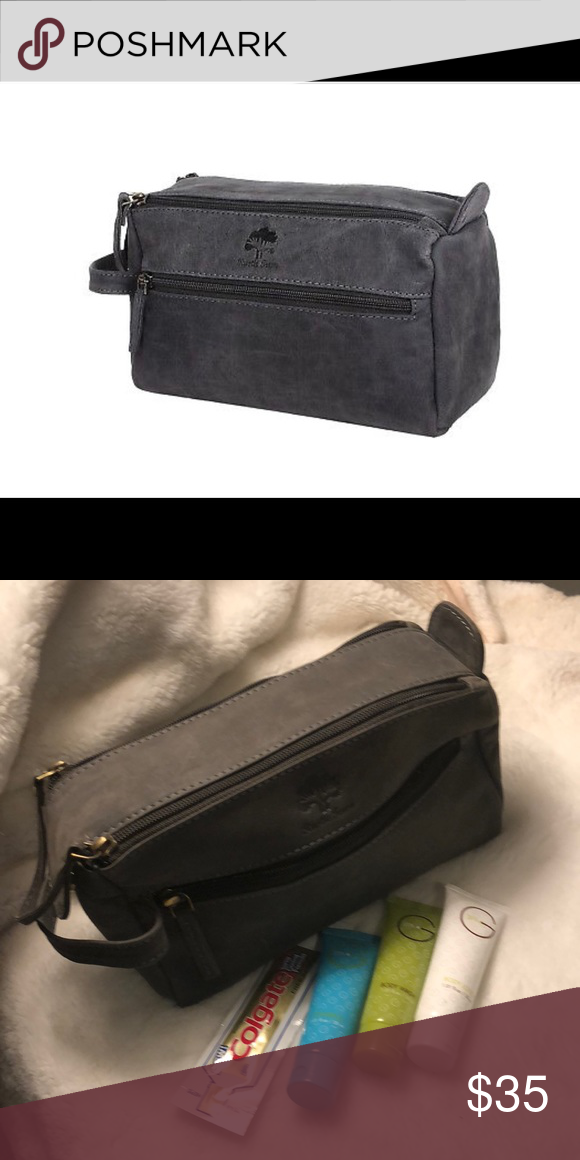 c389593e93 New RUSTIC TOWN GENUINE LEATHER TOILETRY BAG! Brand New HANDMADE BUFFALO  GENUINE LEATHER TOILETRY BAG