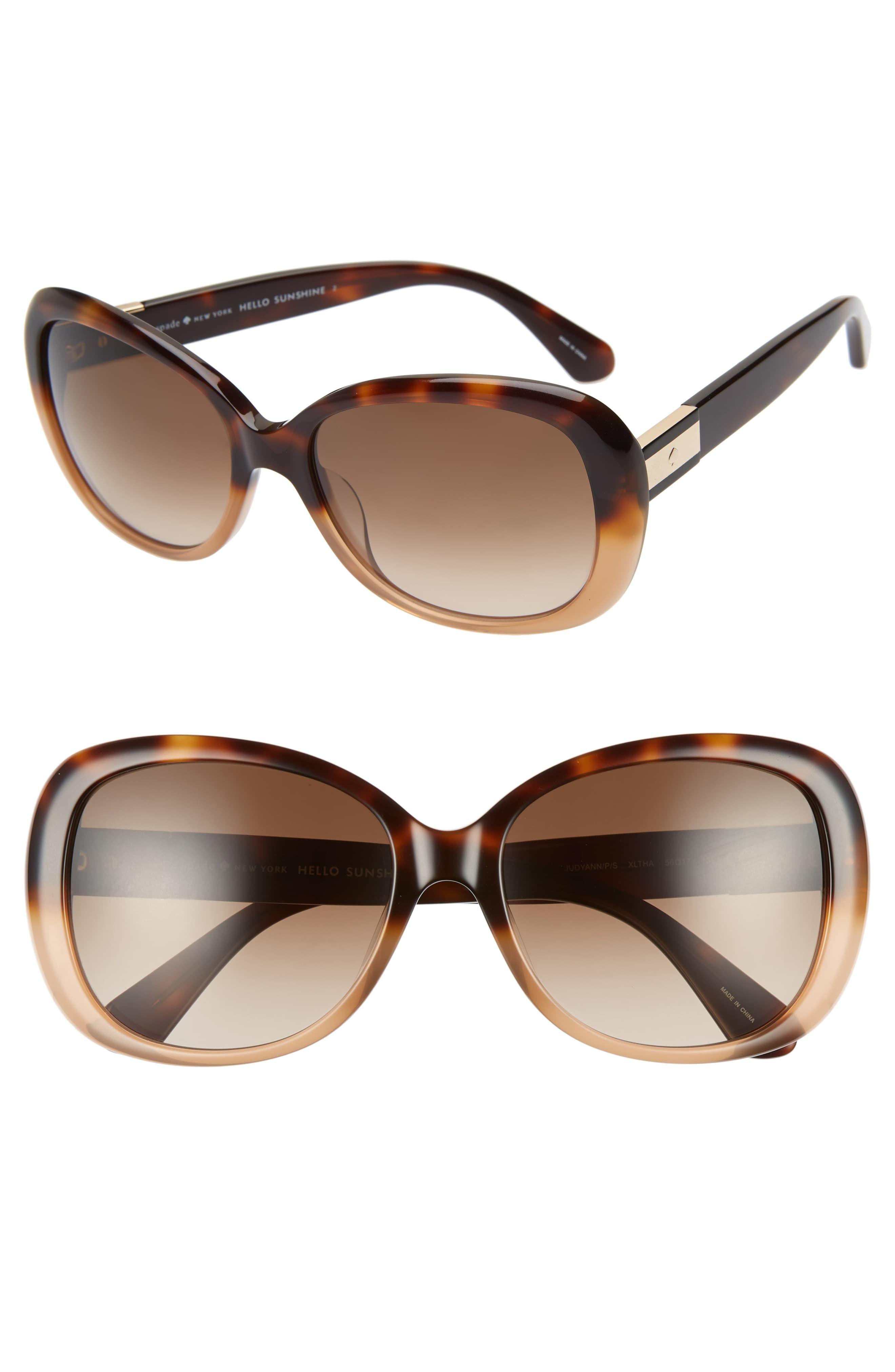 d629d9e1ccf6 Women's Kate Spade New York Judyann 56Mm Sunglasses - Havana Beige Polarized