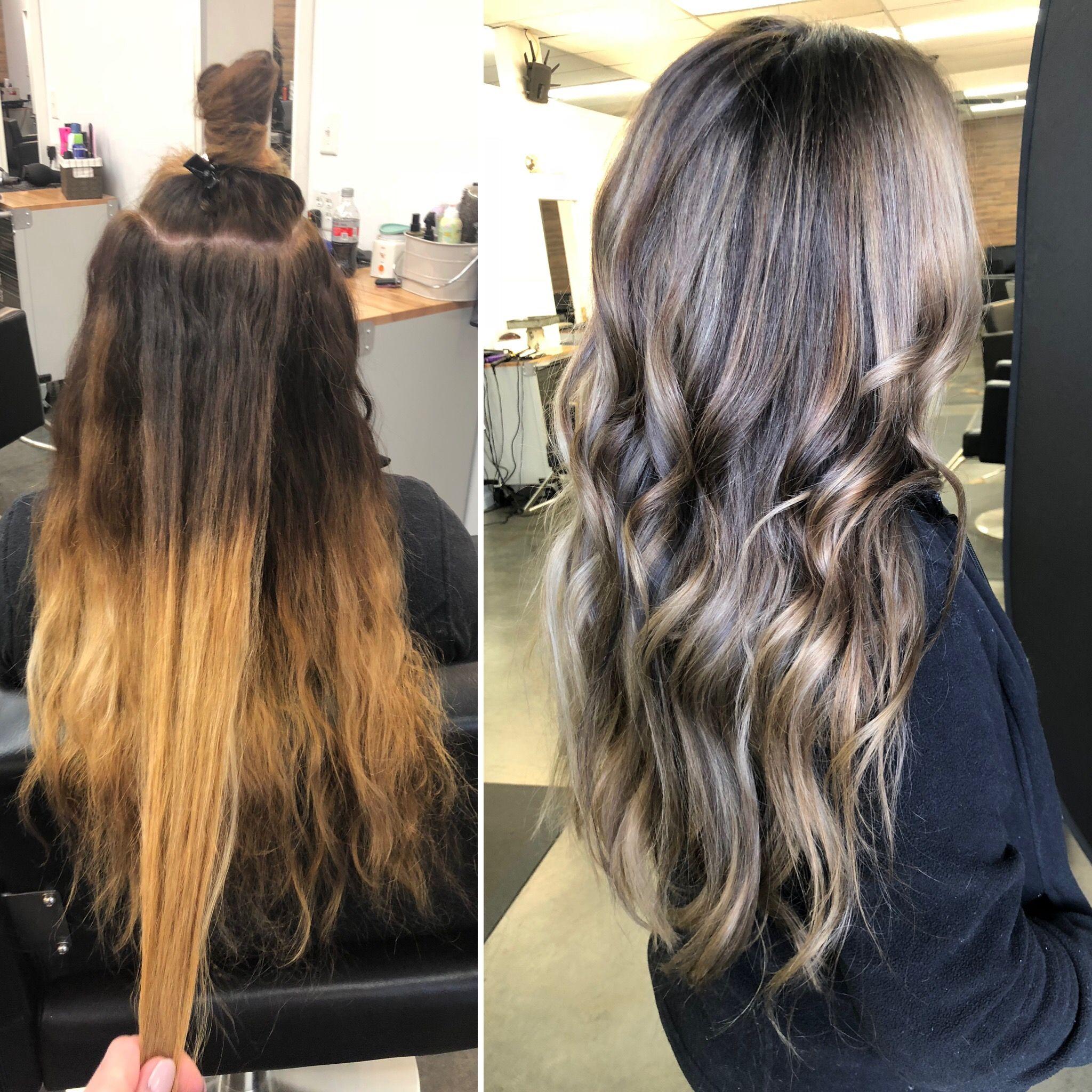 Fix Bad Bayalage Color Correcting The Hard Bayalage Lines Hair Styles Long Hair Styles Hair