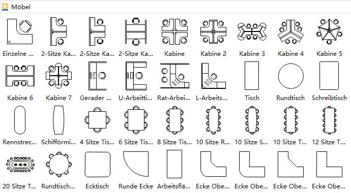 Innenarchitektur Möbel Planer, Büroplanung, Grundriss