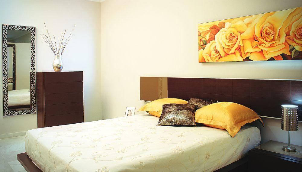 Decoración dormitorio. Habitación de matrimonio