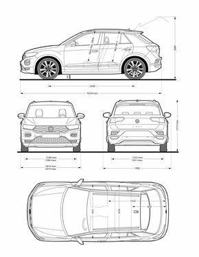 Volkswagen TRoc blueprint   Concept cars  Volkswagen  Car