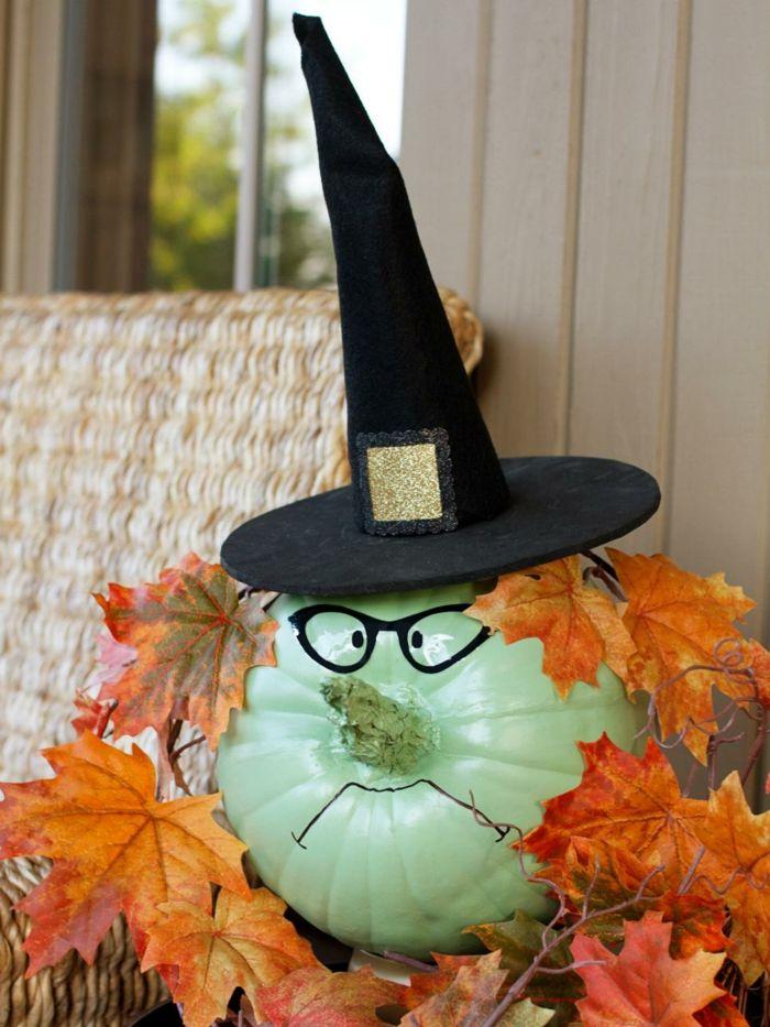 Calabazas decoradas diseos creativos para Halloween Brujo
