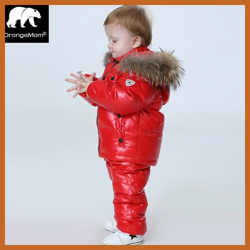 a466f75bf2ec 30 degree Russia Winter children s clothing girls clothes sets for ...