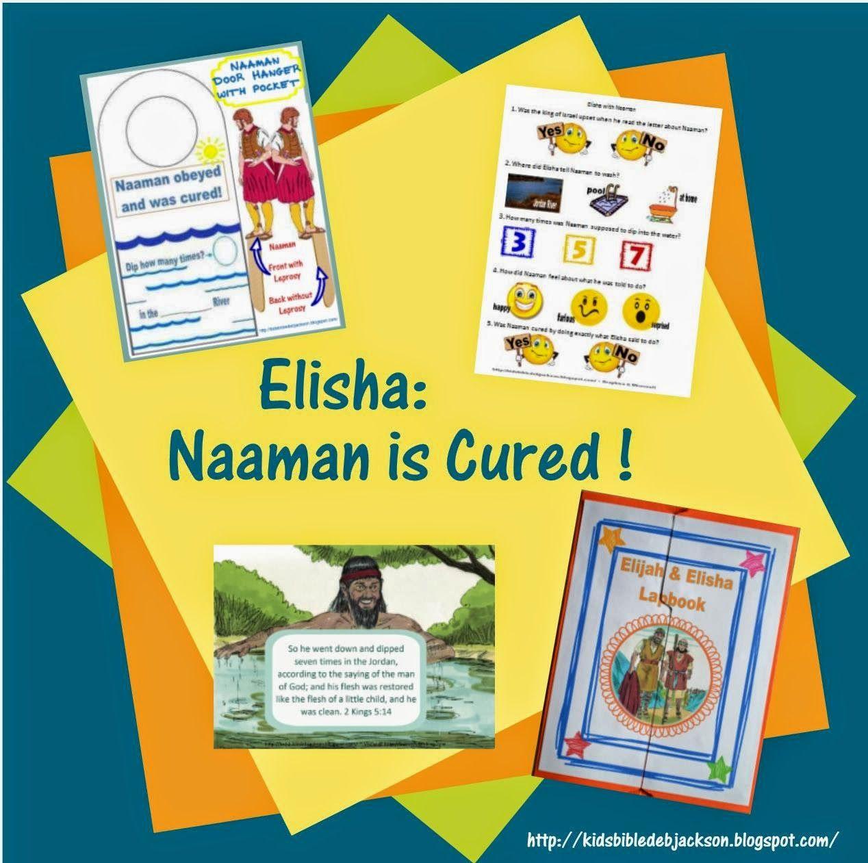 Elisha & Naaman | Church Preschool ideas | Pinterest