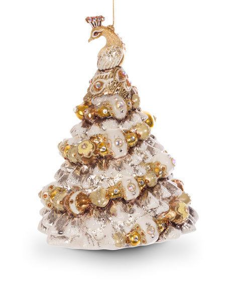 JAY STRONGWATER Peacock Christmas Tree Ornament $139 FREE SHIPPING - peacock christmas decorations