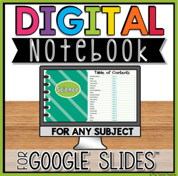 Digital Notebook in Google Slides™ for ANY Subject  | DISTANCE LEARNING