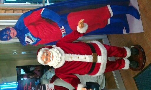 Santa & dicks superman