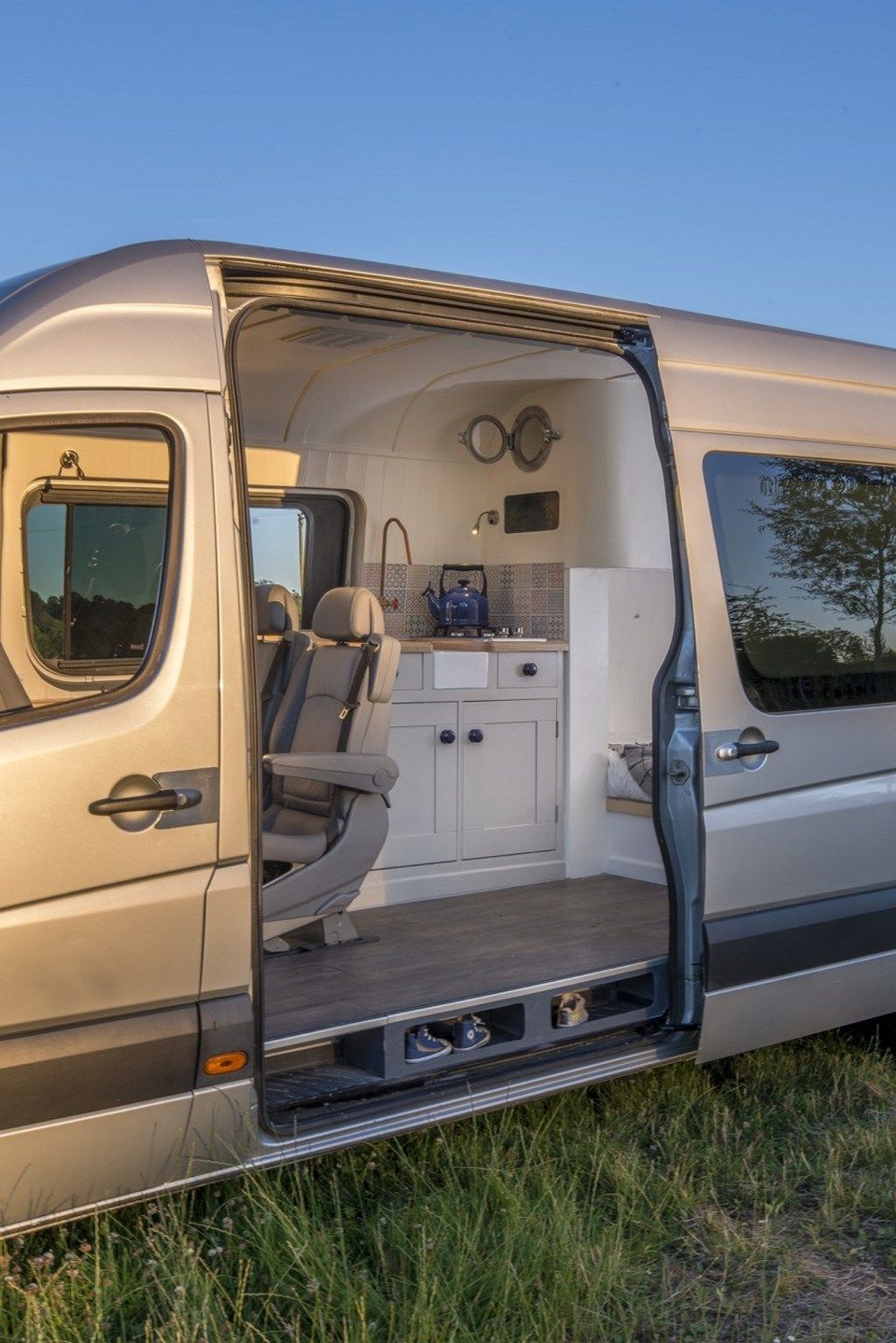 Gallery Of The Sprinter Camper Van Conversion Built In Oxford England Good Idea With Shoe Storage