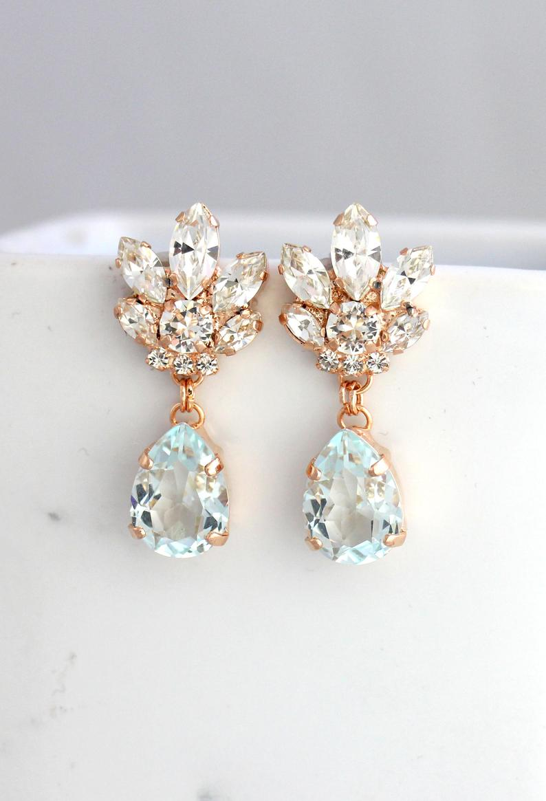 Bridal party gifts Bridal accessories Wedding jewelry Chandelier long Earrings 4 Long statement earrings Chandelier Crystal Earrings