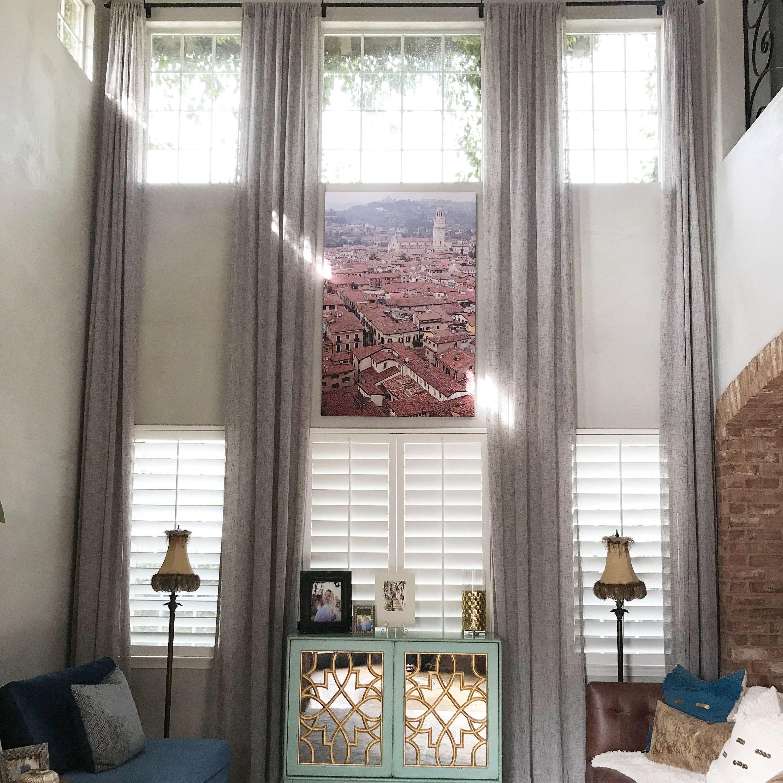 Extra Long Sheer Decorative Linen Curtain 1 Panel Custom Etsy Sheer Linen Curtains Linen Curtains Curtains