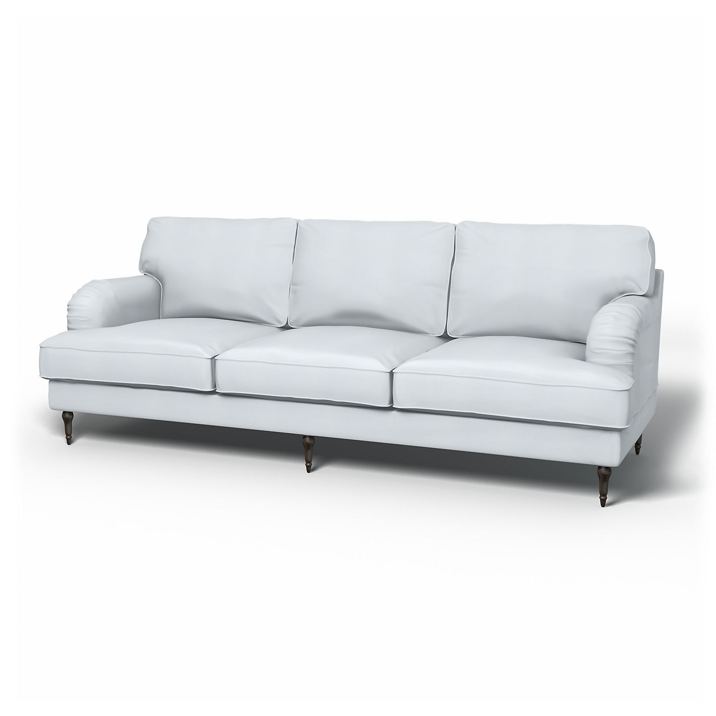 Karlstad Sofa Covers 3 Seater Regular Fit Panama Cotton A Paler Shade Of Grey Sofa Covers Sofa Ikea Couch
