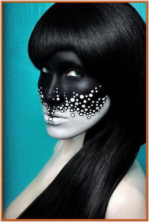 Black And White Face Painting Ideas by Linda Aguilar ...