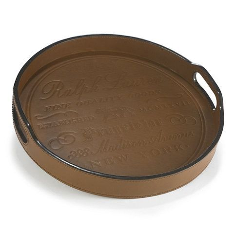 Cantwell Round Bar Tray Trays Tabletop Accents Products Ralph Lauren Home Ralphlaurenhome Com Bar Tray Designer Tray Tray
