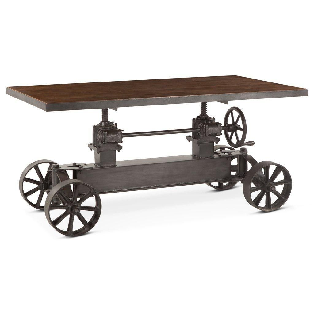 Urban Industrial Dining Table Or Bar Table 62 Iron Wheels Machine Age Industrial Dining Table Vintage Industrial Furniture Rustic Industrial Furniture