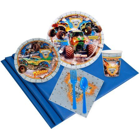 Monster Jam 3D Party Pack for 16, Multicolor
