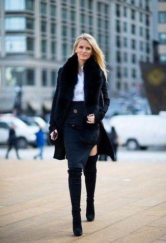 Marino Un Usa Azul Una Falda Negro Lograr Para Abrigo Estilo Y pW0aq