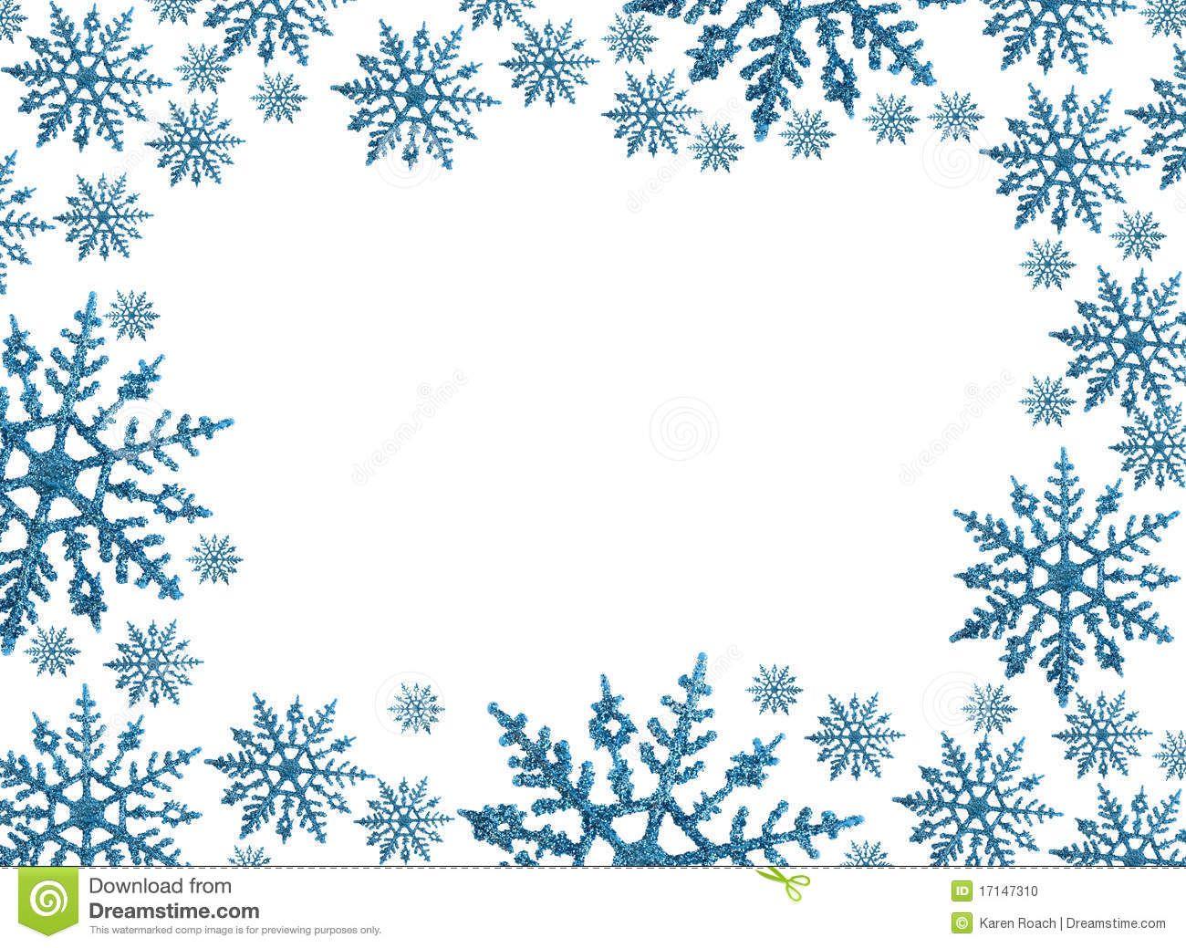 Cutting Machine Art SVG CLIPART Winter Snowflake Border Instant Download