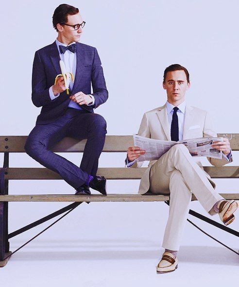 Tom Hiddlestons...I love that he's holding a banana!