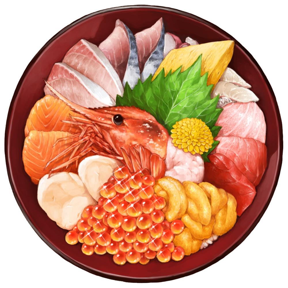 Artstation Sashimi Rice Bowl Sehyun Lee Watercolor Food Japanese Food Illustration Japanese Food Art