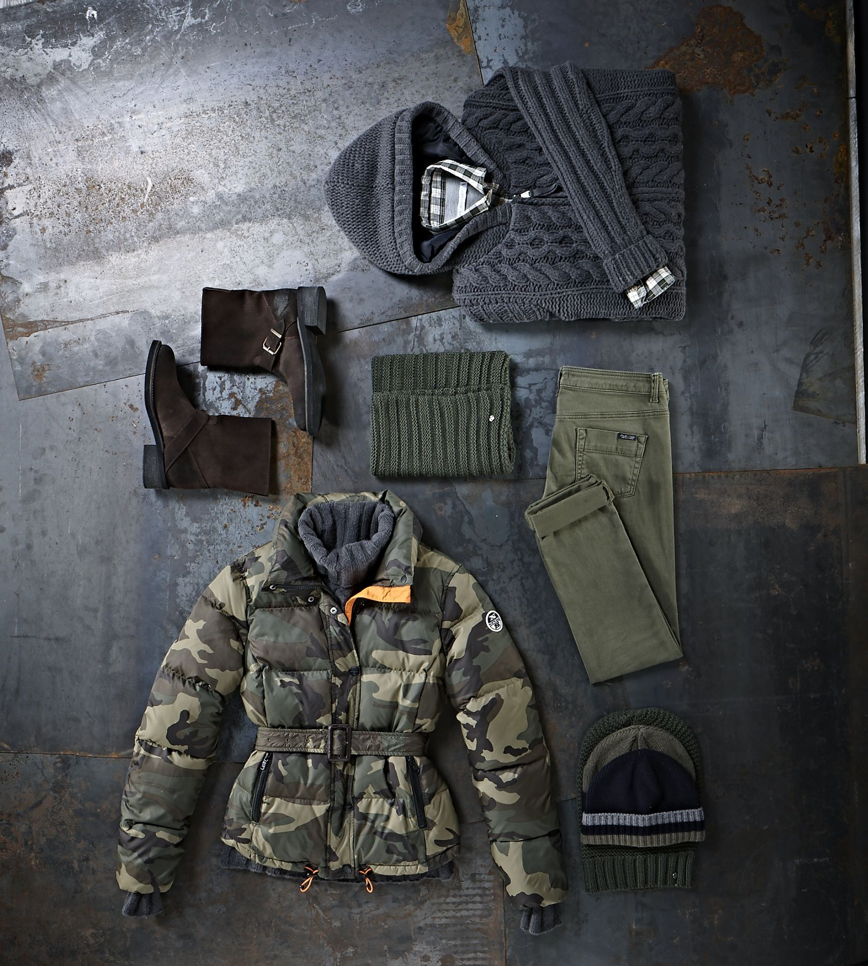 #NorthSails #Lookbook #collection #fall #winter #2013 #2014 #Cesare #Medri #jacket #camouflage #boots #pants #sweater #shirt #hat #scarf