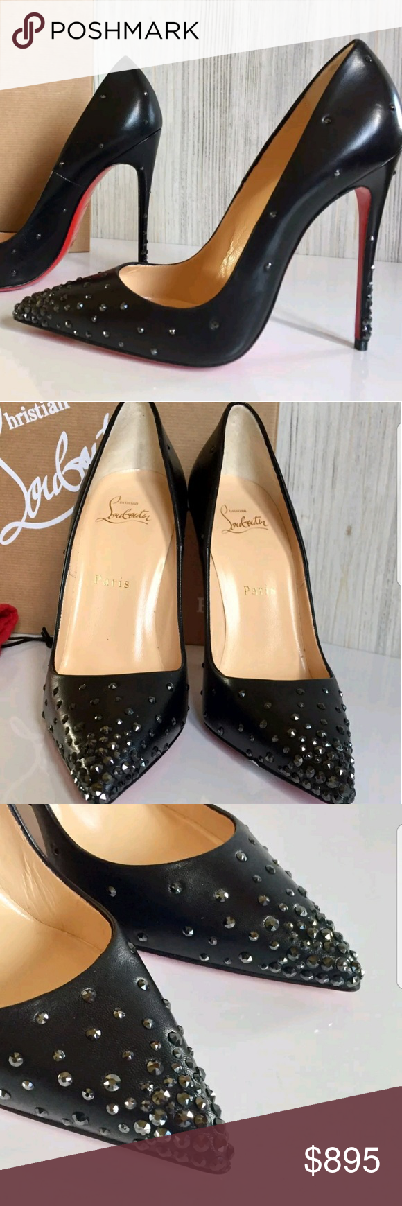 17361a953d40 Christian Louboutin So Kate Degrastrass Leather 41 Authentic breathtaking Christian  Louboutin Degrastrass 120 mm heel in