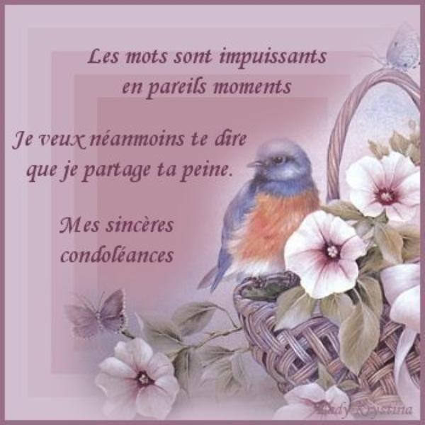 Courage Ma Cherie C At Role Sincères Condoléances Sincères