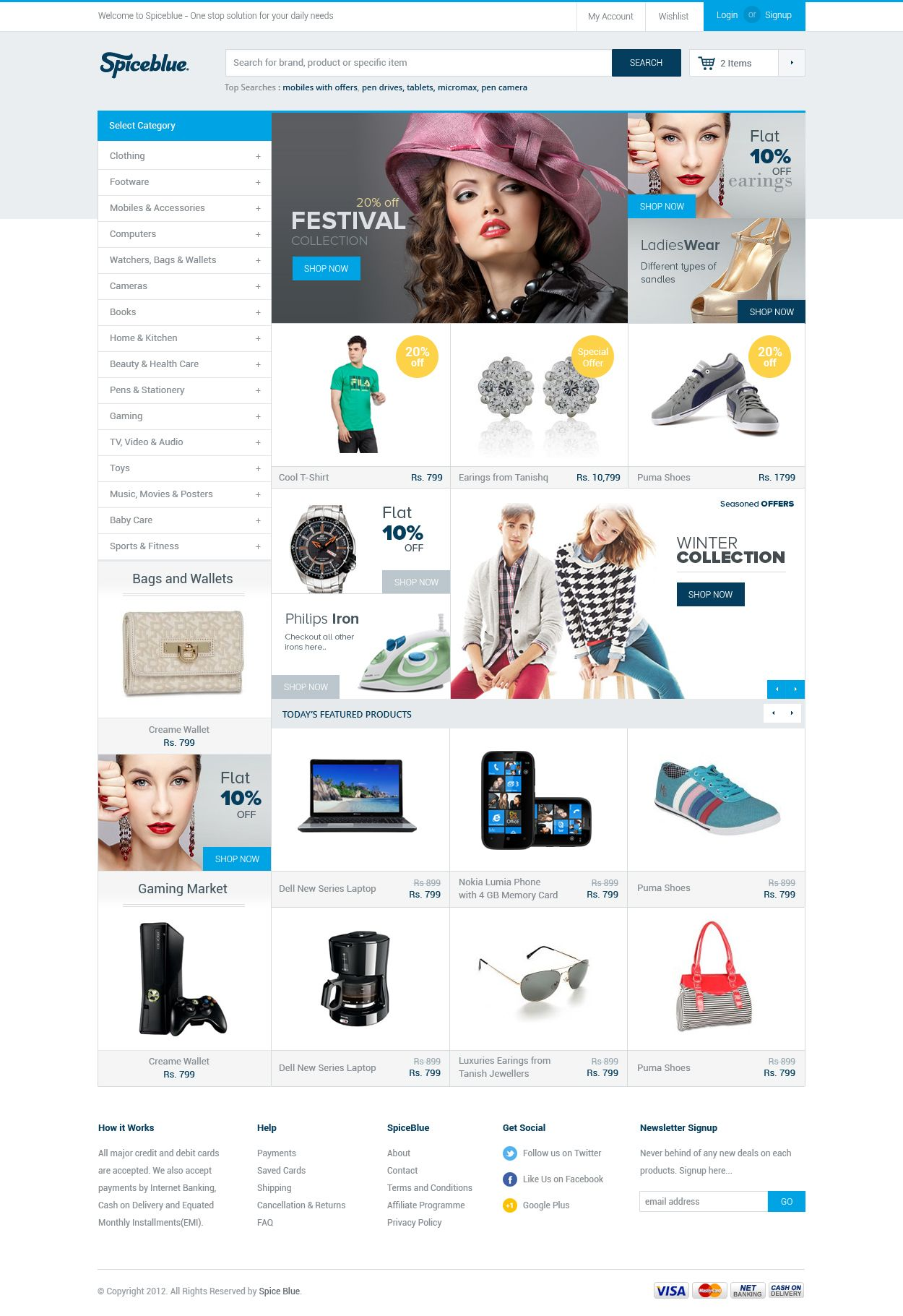 Light, clean, and effective eCommerce design