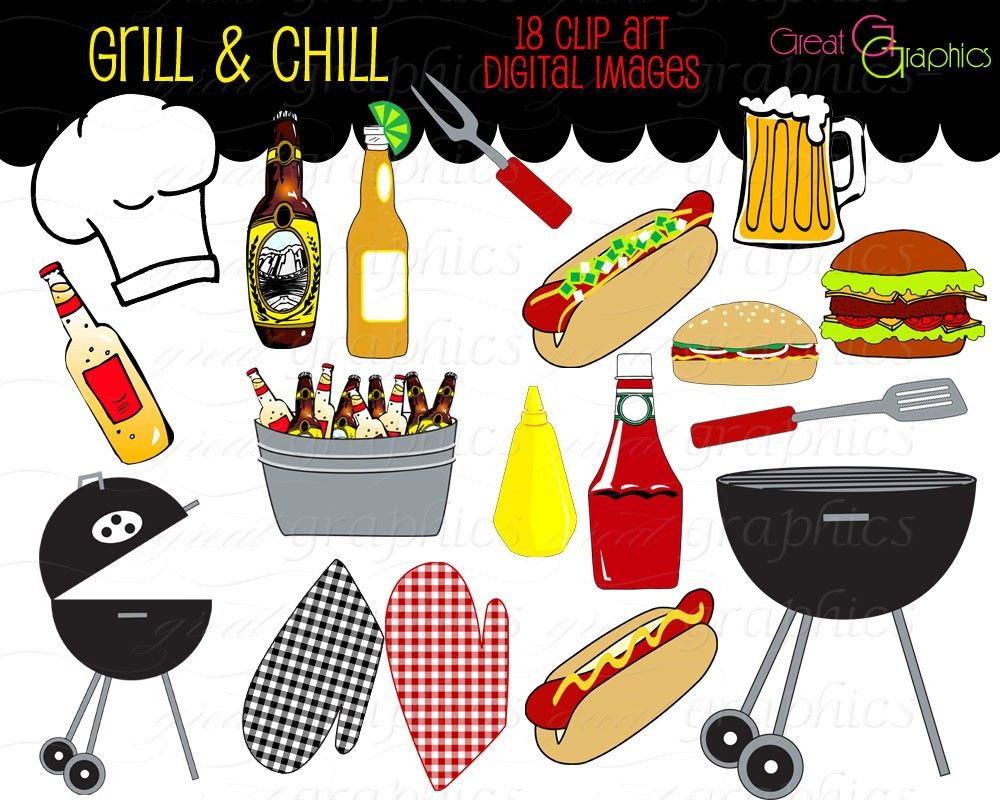 Cookout Border Clipart Hot Dog Cookout Invite Stock Vector Art