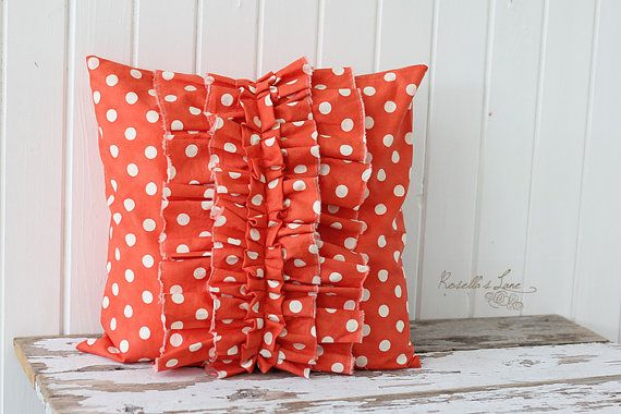 LOVE this ruffle pillow! Check out Rosella's Lane :)