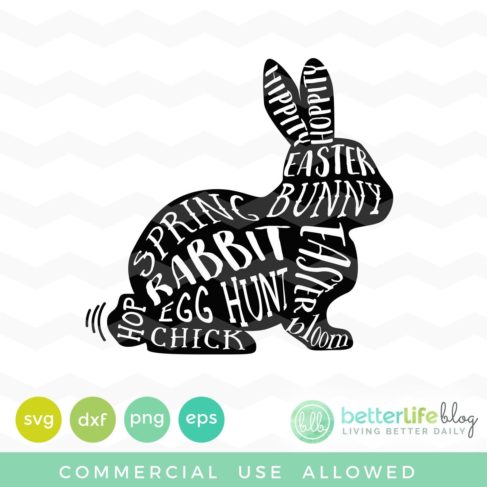 Eps Bunny Ears Silhouette PNG DXF Happy Easter SVG Digital Cut File Jpg Cricut Print File Easter