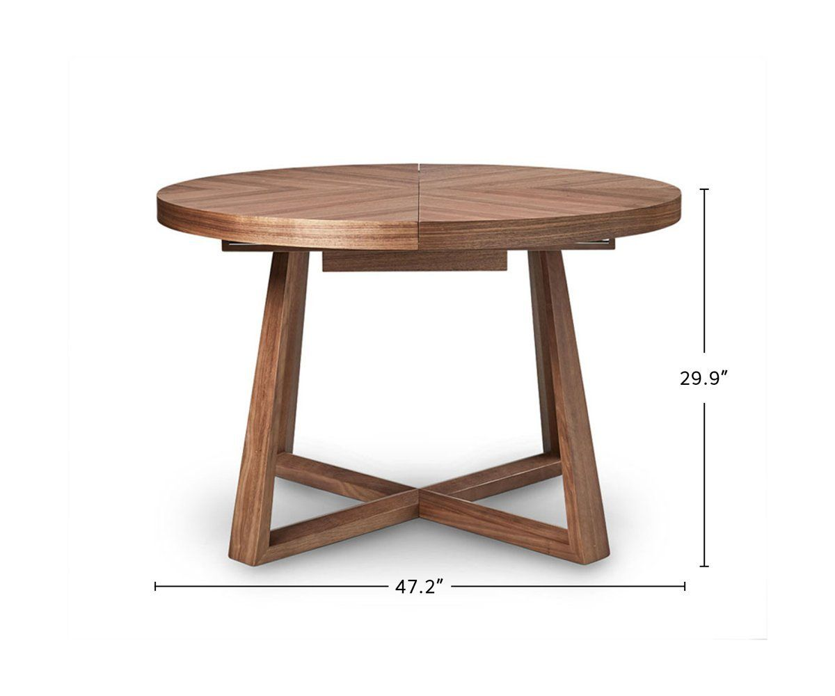 Round Dining Table Set With Leaf Extension