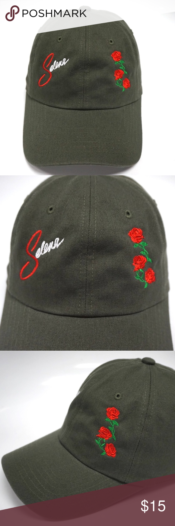 ea9d9157 Selena Rose Dad Hat Slouch Cap Selena Rose Dad Hat Color: Olive Condition:  Brand