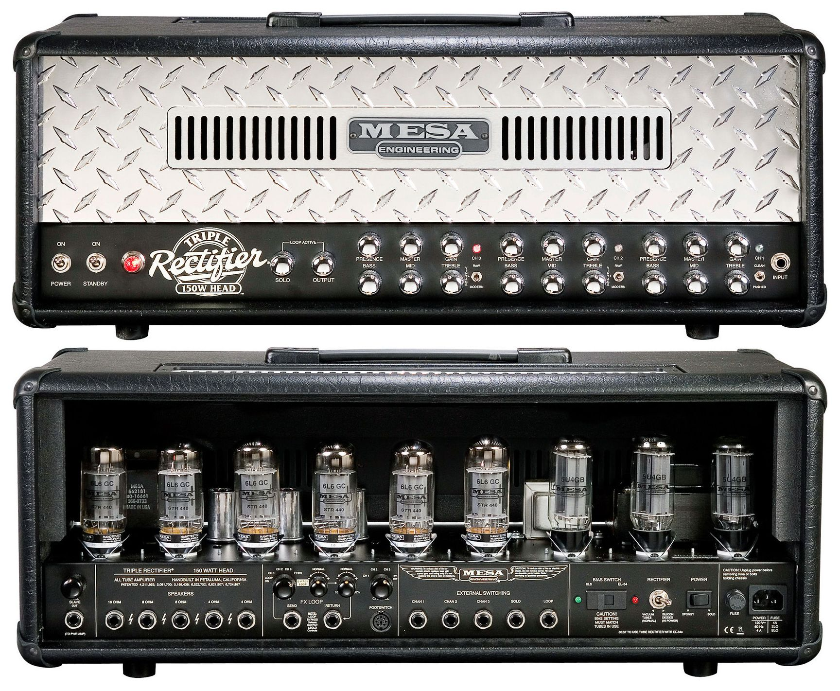 Mesa boogie triple rectifier  That's a lot of tubes  Reminds