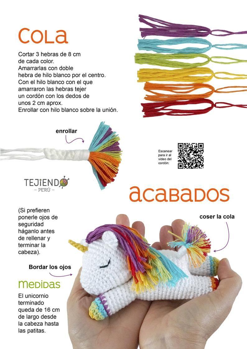 unicornio amigurumi patron gratis unicornio crochet paso a paso ... | 1122x794
