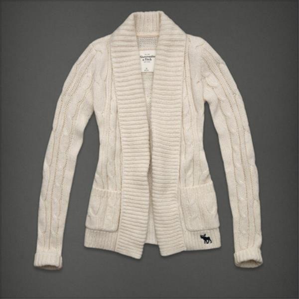 Abercrombie & Fitch Mujer clásico de punto suéteres de la rebeca de color beige - (abercrombie fitch madrid)