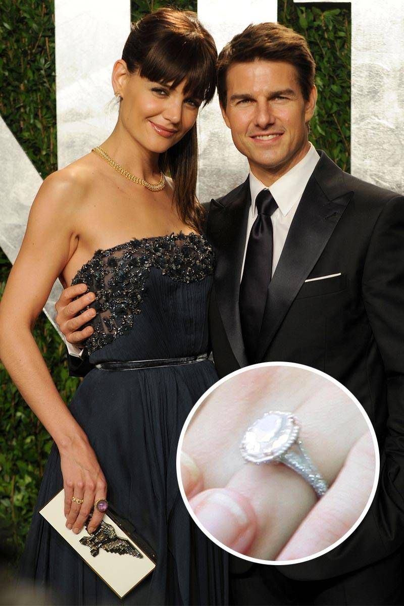 Katie Holmes And Tom Cruise  Katie Holmes's Fivecarat Ovalshaped Engagement  Ring