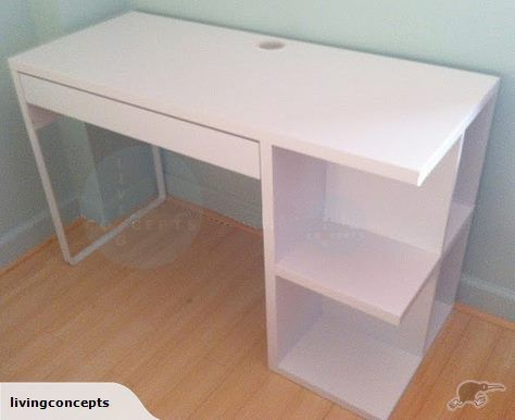 Ikea Micke Desk With Open Shelves And 1 Drawer Ikea Micke Desk Micke Desk Ikea Micke